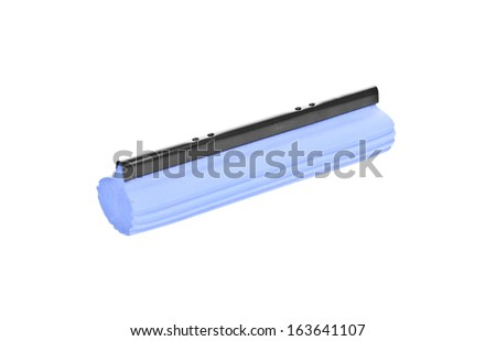 Blue wiper for cleaning window isolated  - stock photo