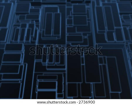 blue_wire_greebles - stock photo