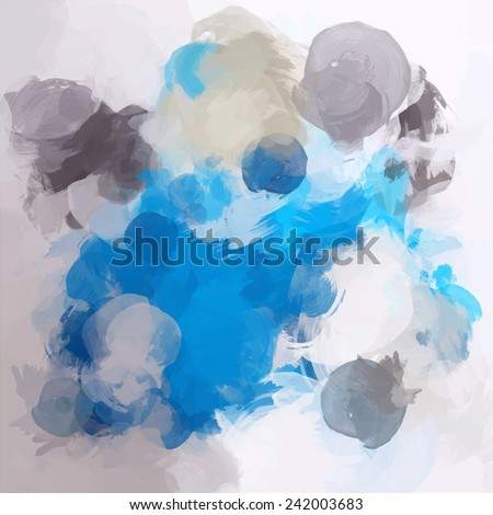 Blue with gray brush strokes background - stock photo