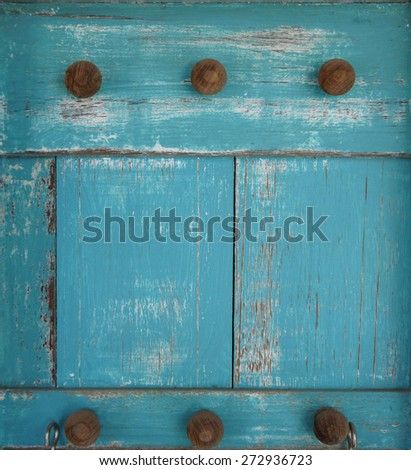 Blue wood for vintage background                    - stock photo