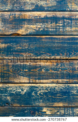 Blue wooden background - stock photo