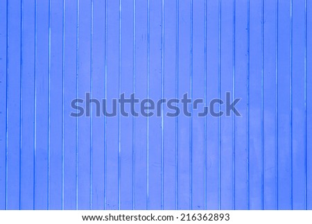 blue wooden background of beach huts in Miami - stock photo