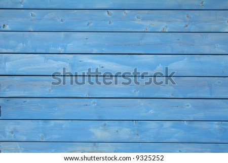 blue wooden wall pattern - stock photo