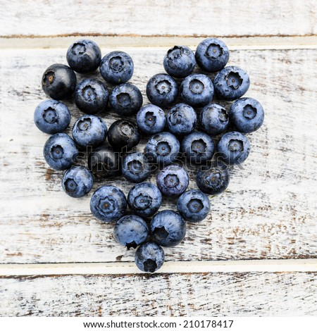 Blueberries - fresh blueberries in bowl - stock photo