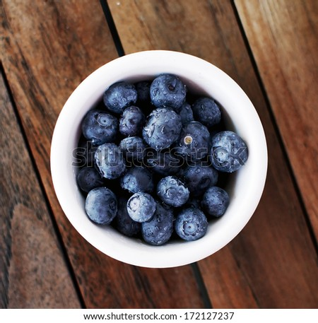 Blueberries in a bowl - stock photo