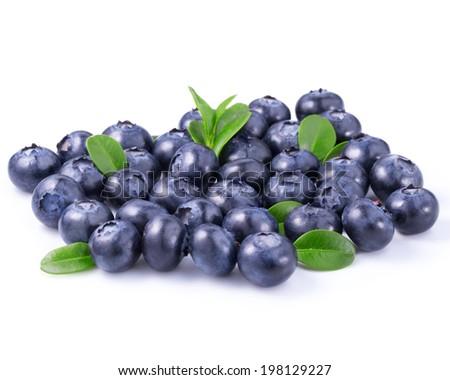 blueberries isolated  - stock photo