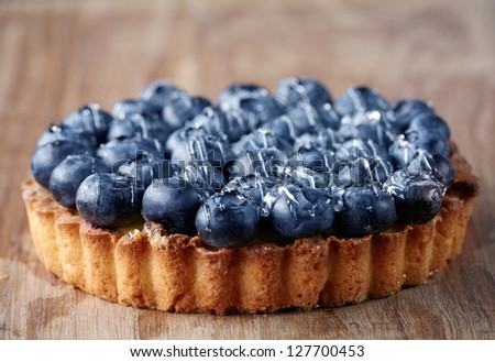 blueberry cake - stock photo