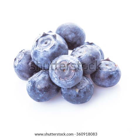 Blueberry on white - stock photo