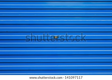bluel roller shutter - stock photo