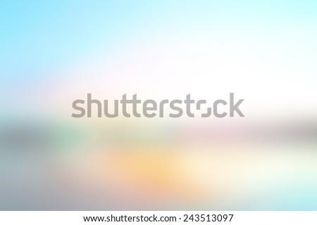 Blur Abstract Summer Holiday concept. Texture Trendy Business Website Template Beach 2017 White Blue Sky Yellow Orange Color Dental Sun Glow Clean Zen Relax Fresh Nature Aqua Bless Bright Ocean Beach - stock photo