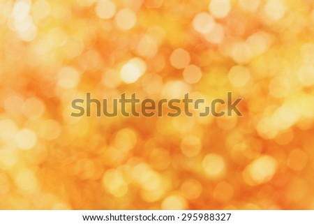Blur autumn leaves for background, abstract bokeh backdrop for your design - stock photo