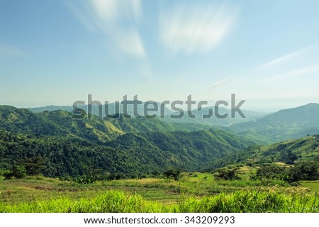 blur background and nature and mountain and landscape - stock photo