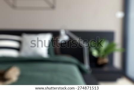 Blur Background of modern Bedroom - stock photo