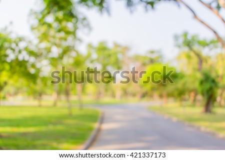 Blur background park - stock photo