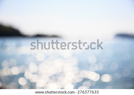 Blur beautiful beach  - stock photo
