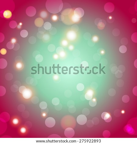 Blur bokeh Abstract bright color background. Sparkles and bokeh. Shiny and glowing - stock photo
