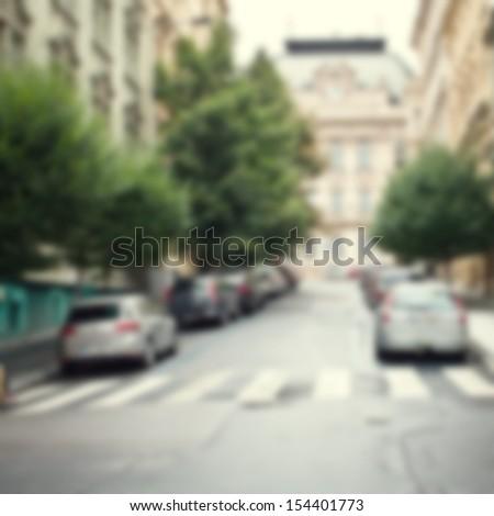 blur city  background - stock photo