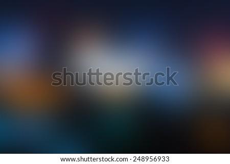 Blur dark tone multicolor light, defocused blurred background. - stock photo