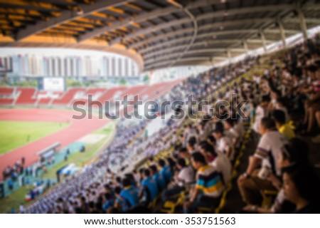 blur football stadium - stock photo