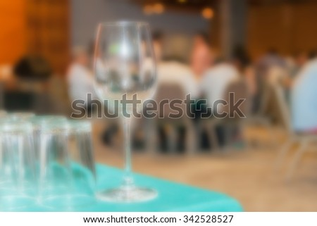 blur glass at room party - stock photo
