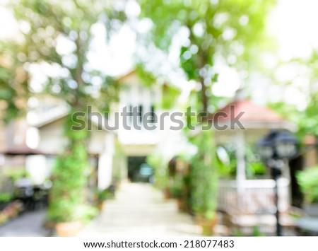 Blur house background - stock photo
