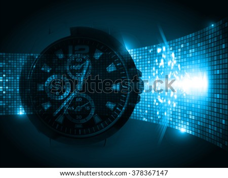blur illustration of technology internet network computer background with binary number, style. infographics. Information. motion blur. pixel. Binary digit. number. Odometer,clock, watch - stock photo
