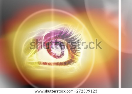 Blur image of an abstract light background - stock photo