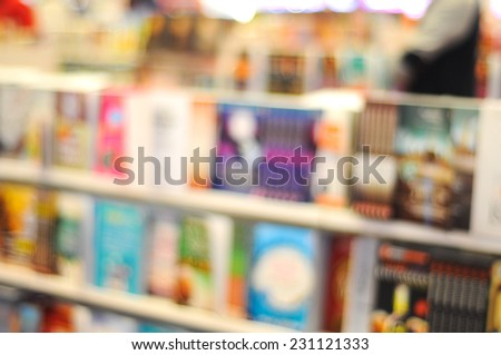 Blur image of bookstore - stock photo
