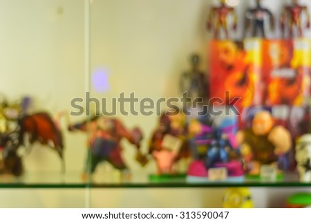 Blur image of clash of clan figure - stock photo