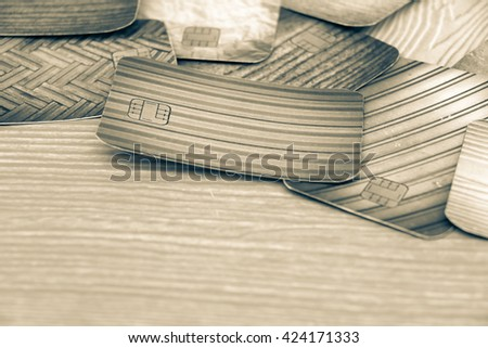 blur image of credit card - stock photo