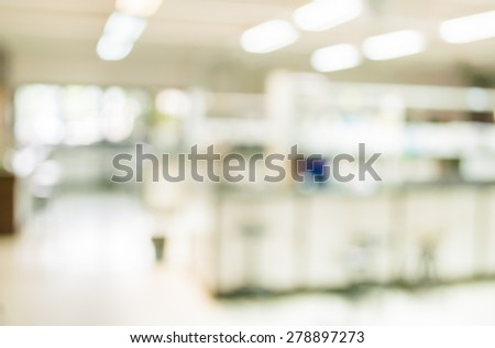 blur image of old laboratory for background usage. - stock photo