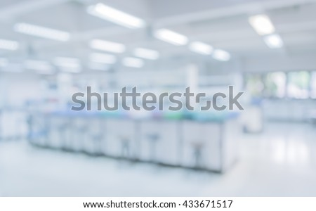 blur image of old laboratory for pharmacy background usage . - stock photo
