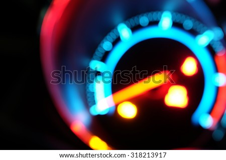 Blur light of mile gauge. - stock photo