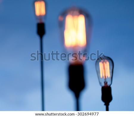 Blur Lighting decor - stock photo