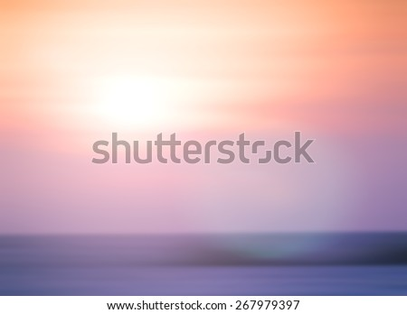 Blur nature. Bright, Sun, Sea, Bokeh, Flare, Soft, Glow, Ocean, Relax, Shine, Pastel, Fresh, Vibrant, Morning, Yellow, City, Orange, White, Color, Sky, Pink, Blue, Romantic, Violet, Purple, Vintage. - stock photo