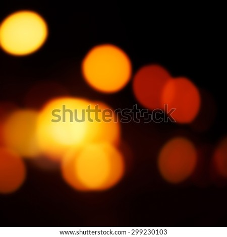 Blur night light reflection with magic Bokeh. Christmas abstract backdrop with blurry lights.   - stock photo