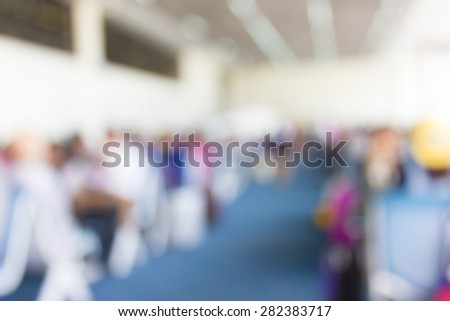 Blur Passenger waiting for flight at airport terminal  - stock photo
