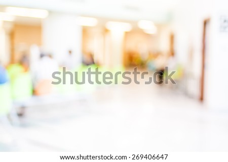 Blur patient waiting for see doctor at hospital,abstract background. - stock photo