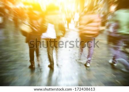 blur people - stock photo