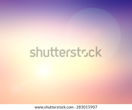Blur Sea Frame Power Ocean Beach Texture Blue Pink Violet Magenta Yellow White Purple Blank Earth Air Sun Idea Wave Clear Soft Light Bokeh Flare Sand Peace Relax Sunny Bright Cloudy Heaven Glow Begin. - stock photo
