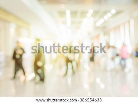 Blur shopping mall background.  - stock photo