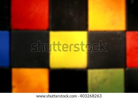 Blur short of ceramic floor - stock photo