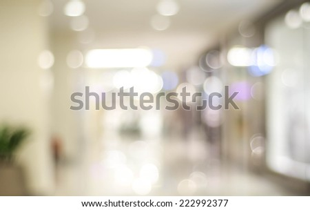 Blur store with bokeh background - stock photo