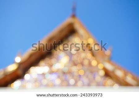 Blur Temple in the morning  - stock photo