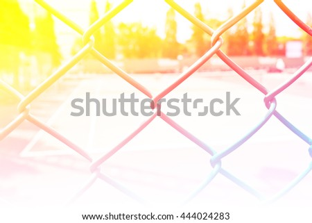 Blur tennis court sport outdoor with color filters - stock photo