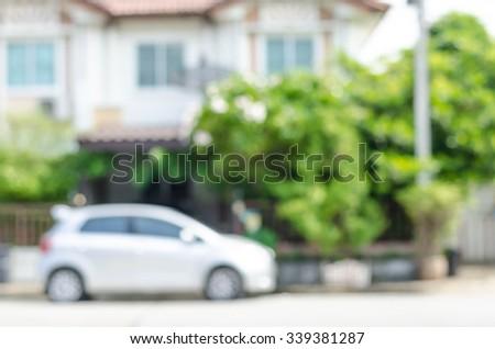 Blur  townhomes - stock photo