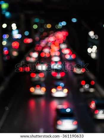 blur traffic car on the road - stock photo