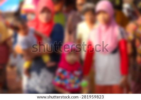 blure background of people in the city - stock photo