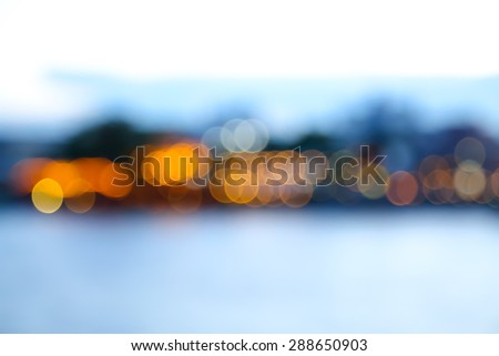 Blured background, Colorful bokeh background abstract, Light from the river - stock photo