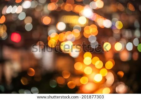 blured lighhts from Pattaya, Thailand - stock photo